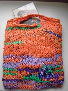Knitting Strips of Plastic Bags